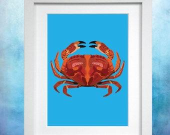 Crab A4 Print