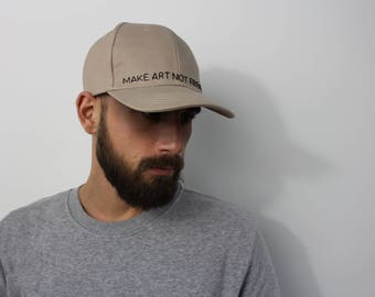 Embroidery Daddy Cap / Make Art Not Friends