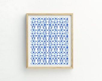 Shibori Abstract Print | Tie Dye Pattern | Scandi Wall Art | Scandi Print | Minimalist Print | Abstract Print | Abstract Art | Minimalist