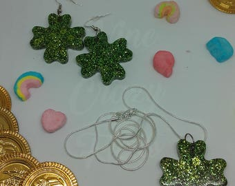 Lucky Clover Necklaces and Earrings