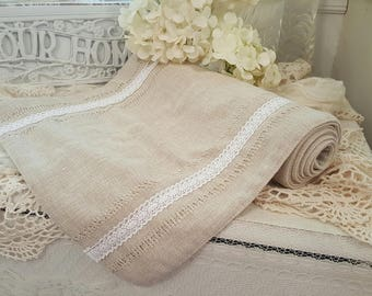 Linen and Lace Runner
