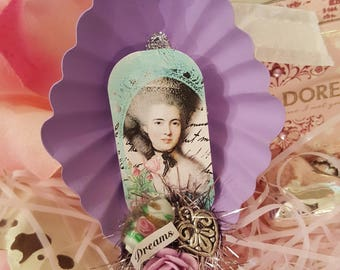 "Romantic ""Dreams"" Dessert Tin Magnet - Lavender"