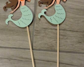 Mermaid Decorations, Mermaid party, Mermaid decorations, Mermaid centerpieces, Mermaid cake toppers