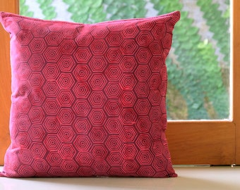 decorative pillow | 20x20 | 16x26 | 26x26 | throw pillow | pillow cover | red | batik | cushion cover | sham | home decor | gift for her