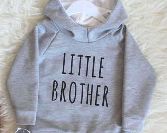 little brother hoodie, big brother jumper,  big sister sweatshirt, little sister top, siblings' sweaters, baby announcement toddler sweater