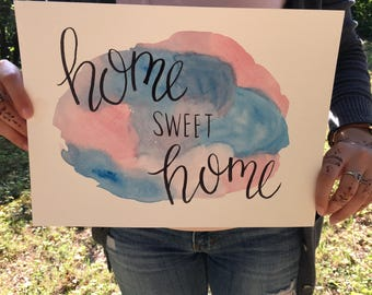 Home Sweet Home- Handmade Watercolor Painting
