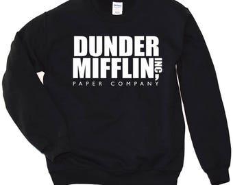 Dunder Mifflin Sweatshirt. Dunder Mifflin Crewneck Sweatshirt. The Office Tv Show Sweatshirt. The office Hoodie. More colors available. S-3X