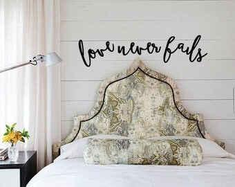 Love Never Fails Wall Art Wood Decor