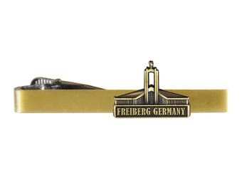Freiberg Germany Temple Gold Tie Bar - LDS Gifts