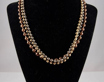 Vintage Multi-Strand Chain Necklace (in Bronze, Gold, and Silver)