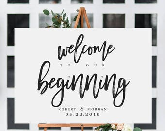 elegant welcome to our wedding sign template welcome wedding. Black Bedroom Furniture Sets. Home Design Ideas