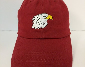 Bald Eagle Embroidered Unstructured 100% Cotton Polo Adjustable Baseball cap dad hat