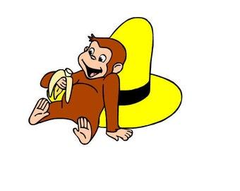 George Monkey SVG files set of 3