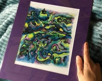 Watercolor Print Wall Art, Abalone