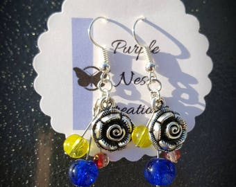 Fairytale Collection: Beauty and the Beast inspired Earrings