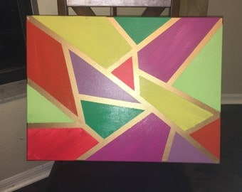 Gold and bright canvas painting