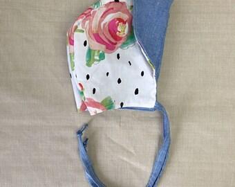 Floral dots bonnet