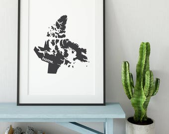 Nunavut Print, Map Art, Canada Day, Canadian Decor, Modern Map, Canada Decor, Home Decor, Province Print, Wall Art, Canadian, True North