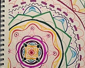 Zentangle Design - Rainbow Color Scheme
