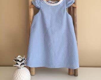 Baby blue satin dress