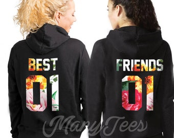 Best friends hoodies best friends sweaters best friends pullovers best friends sweatshirts bff gifts bff hoodies bff outfits sisters hoodies
