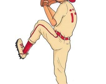 Baseball Boy Print (8x10)