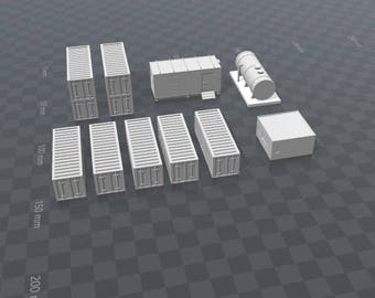 Container Office Port Set