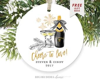 Gift for Couple Christmas Ornament, Personalized Couple Ornament, Our First Christmas Ornament, 1st Christmas Together Gift for Couples