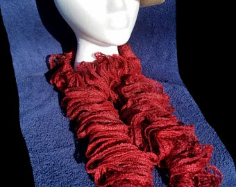 Extra Full Ruby Red Ruffle Scarf