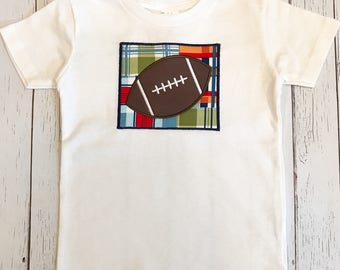 Football appliqué T shirt
