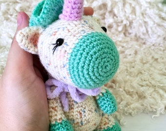 Cute crochet unicorn, Amigurumi unicorn, Plush unicorn toy, Kawaii unicorn stuffed animal