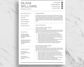 professional resume template for word modern resume design cv template for word 2