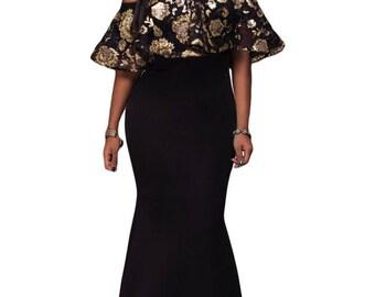 Chic Strapless Evening Dress 50513