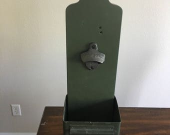 Bottle Opener, Wall Mounted, Army Target, Mancave Decor Barware