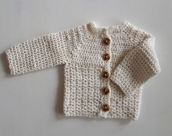 Sweet cotton jacket with bears buttons