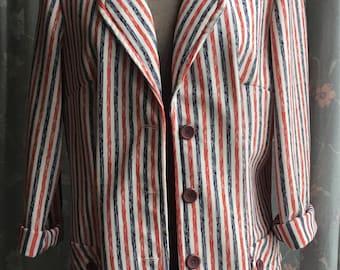 1970s striped blazer by Stockton