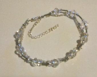 Silver Wire Beaded Bracelet