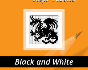 Griddlers, Picross, Nonograms, Hanjie, Pic-a-Pix Logic Puzzles Book - B&W Vol. 1