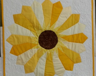 Custom Quilted Sunflower Wall Hanging
