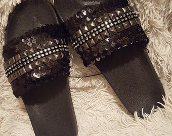 Sequin Slippers/Sandals