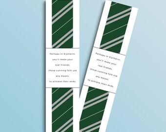 Slytherin bookmark (Harry Potter inspired)