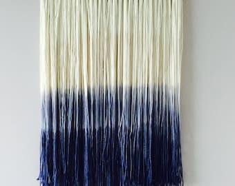 Dip Dye Wall hanging | Fiber Art | Bohemian Decor | Small Tapestry