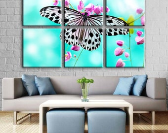 Butterfly canvas print Butterfly wall art Decor canvas Butterfly Nursery Decor Canvas wall decor Butterfly Print canvas Butterfly Decor