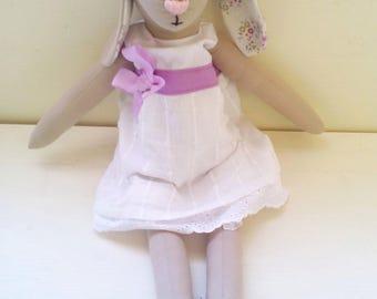 Handmade Bunny - handmade doll - plush animal - plushie - rabbit - gift for girls - kids gift - art doll - heirloom doll - kids room