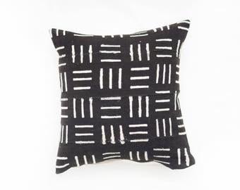 Black African Mudcloth Pillow No.33