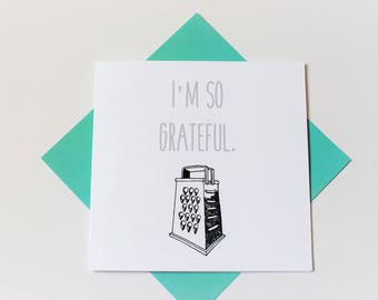 thank you card|grateful|funny|handmade|card for her||card for him|blank greetings card