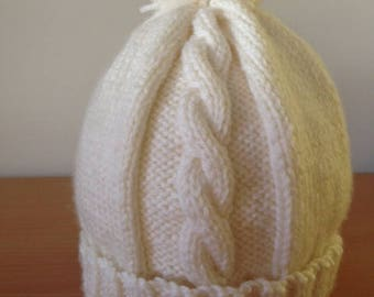 Hand Knitted Toddlers Beanie