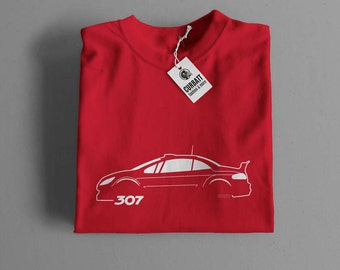 T-shirt Peugeot 307 Wrc Rally | Gent, Lady and Kids | all the sizes | worldwide shipments | Car Auto Voiture