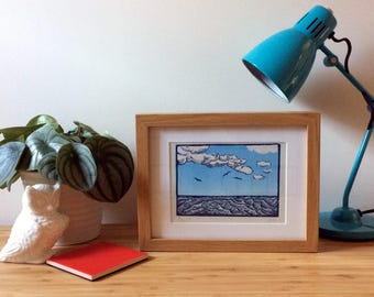 Sea Linoprint - Limited Edition Print of a Seascape