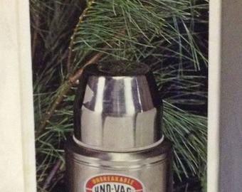 Vintage Uno-Vac Jumbo 1/2 gal insulated vacuum bottle